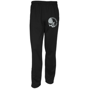 Skull & Gun Embroidered Warm-Up Track Pants - Warrior Code