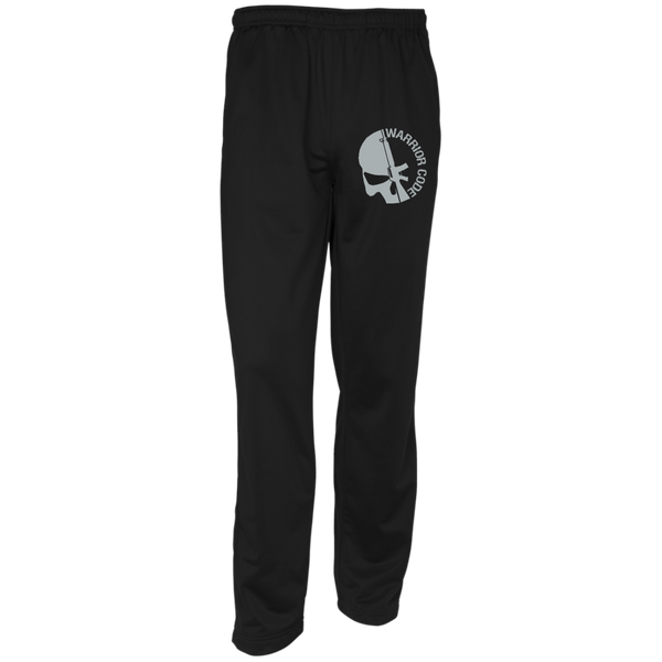 Skull & Gun Embroidered Warm-Up Track Pants