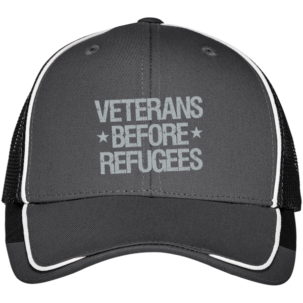 Veterans Before Refugees Colorblock Mesh Back Cap - Warrior Code