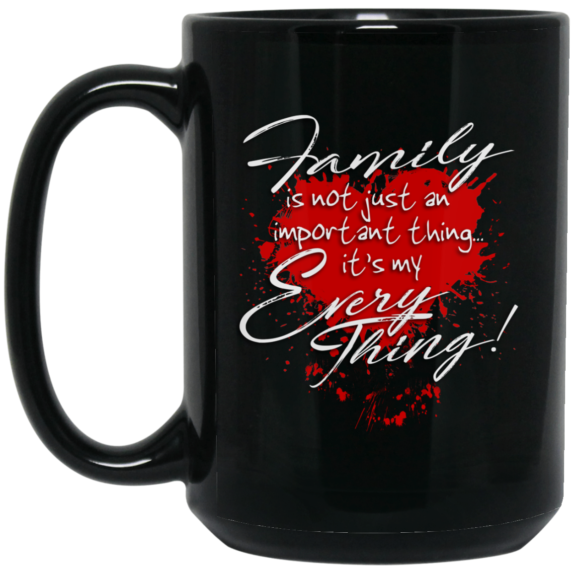 Family 15 oz. Black Mug - Warrior Code