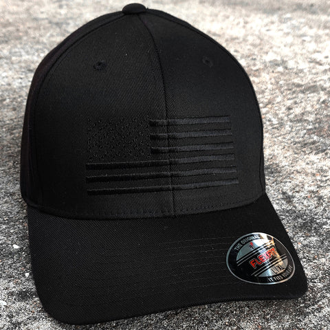 American Flag Blackout Cap