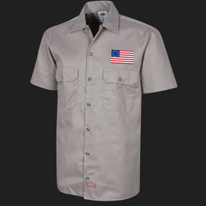 Betsy Ross Flag Dickies Workshirt