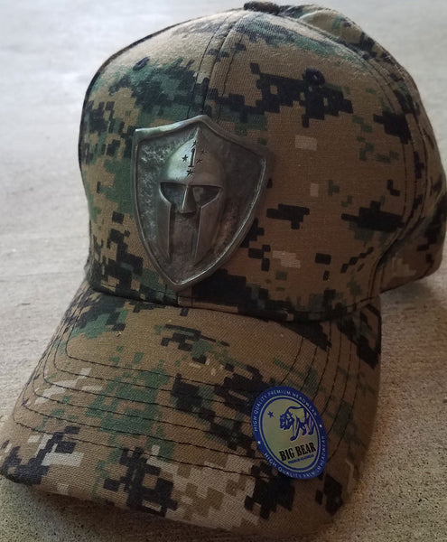Custom Metal Shield Camo Cap