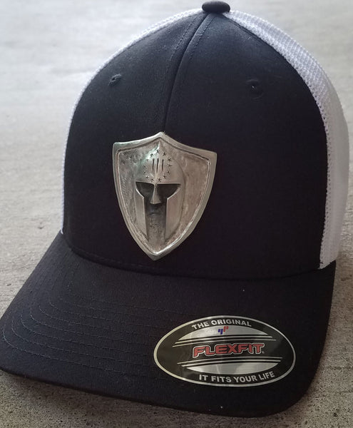 Custom Metal Shield Flex Fit Trucker Cap