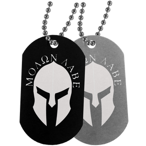 Molon Labe Dog Tags - Warrior Code