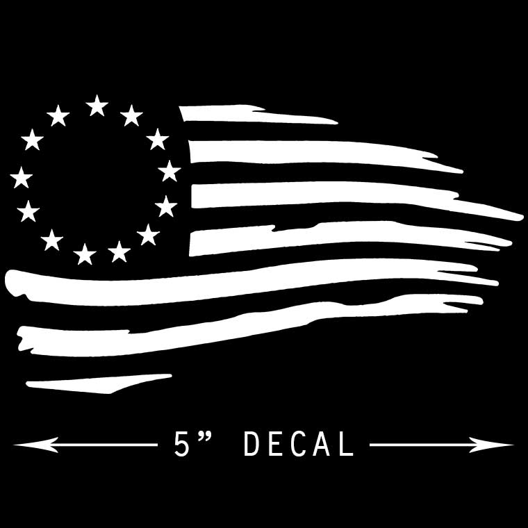 Tattered Revolutionary Flag Decals