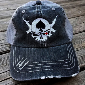 Shooter Distressed Trucker Cap - Warrior Code
