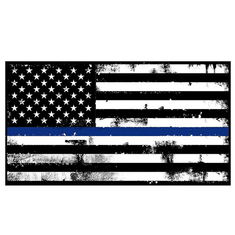 Thin Blue Line Decal - Warrior Code
