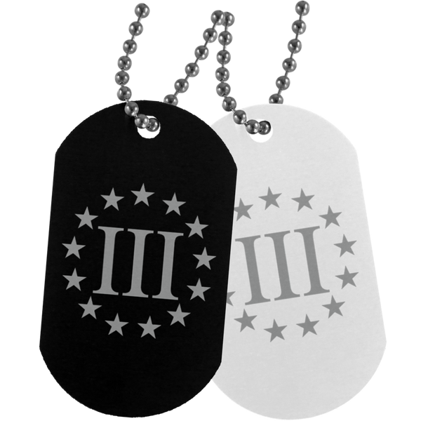 Three Percenter Dog Tag