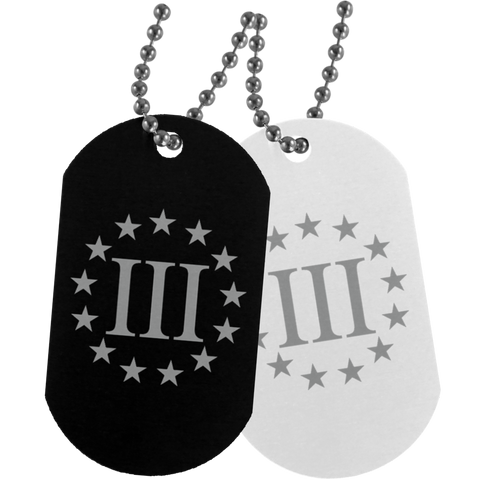 Three Percenter Dog Tag - Warrior Code