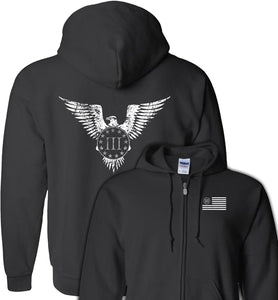 Three Percenter Eagle Hoodie - Warrior Code