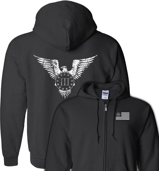 Three Percenter Eagle Hoodie