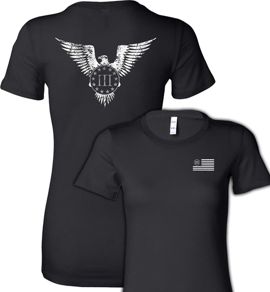 Three Percenter Eagle Ladies Tee