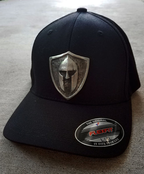 Custom Metal Shield Flex Fit Cap