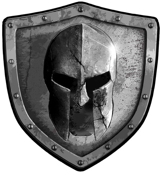 Warrior Code Spartan Shield Decal