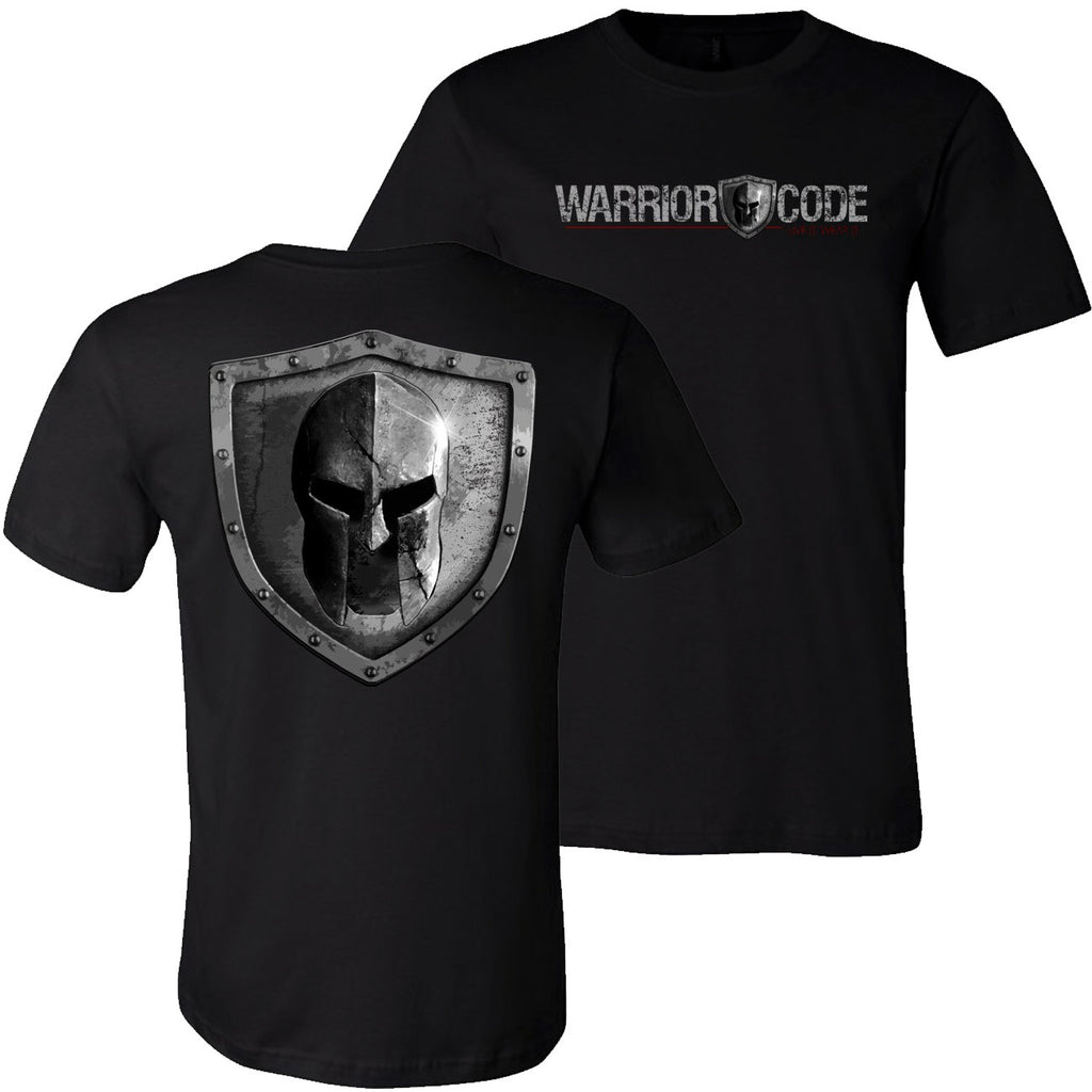 Warrior Code Logo and Shield TShirt - Warrior Code