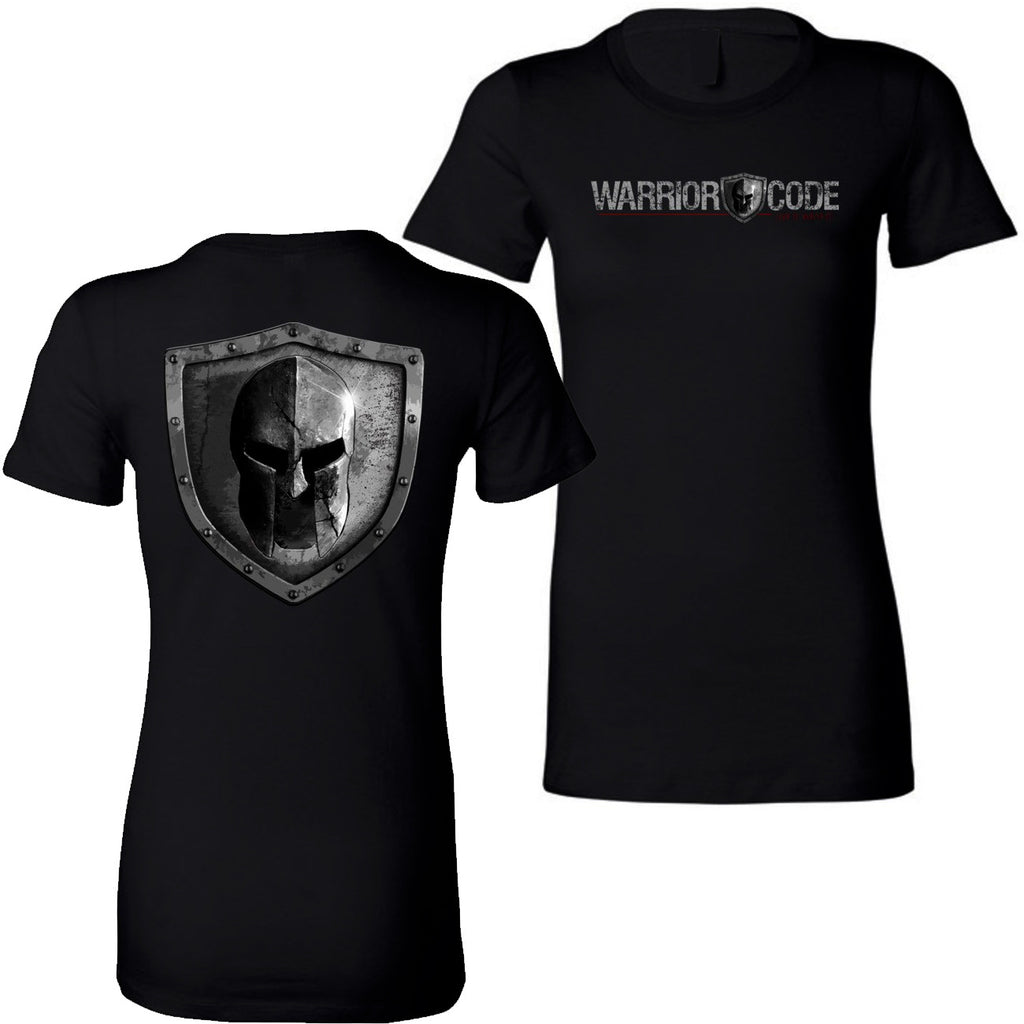 Warrior Code Logo and Shield Women's TShirt
