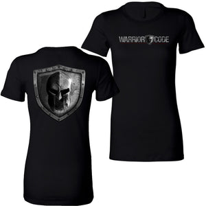 Warrior Code Logo and Shield Women's TShirt - Warrior Code