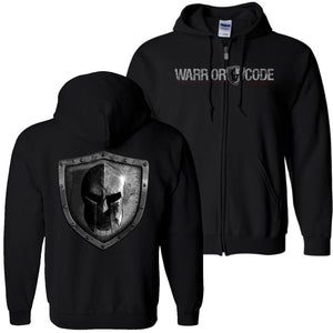 Warrior Code Logo and Shield Zip Hoodie - Warrior Code