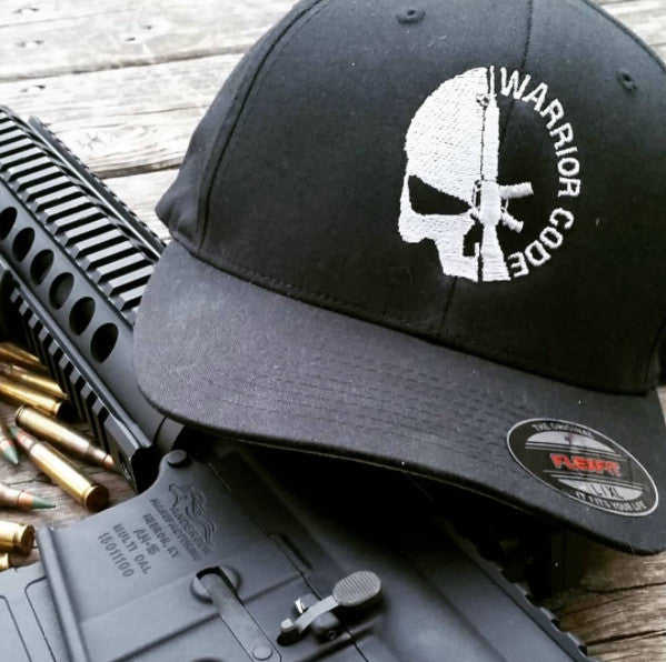 Skull & Gun Flex Fit Cap - Warrior Code