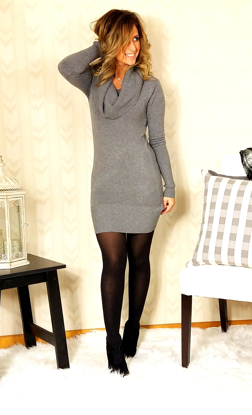 Wear Gray Multi-Way Sweater Dress
