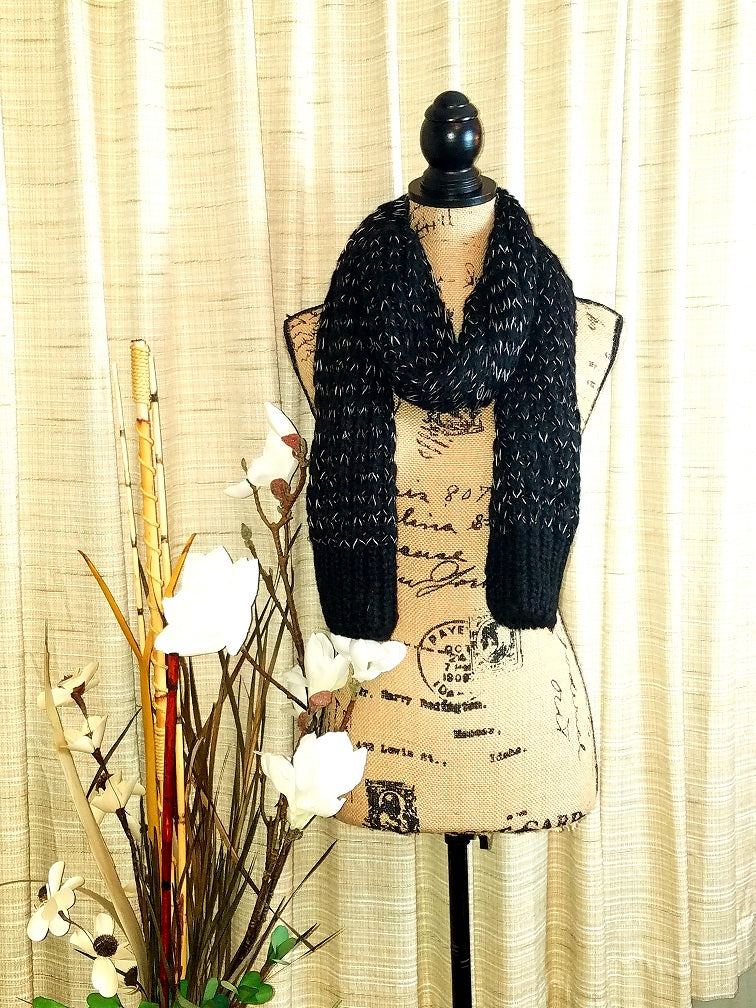 Black and White Tough Love Scarf