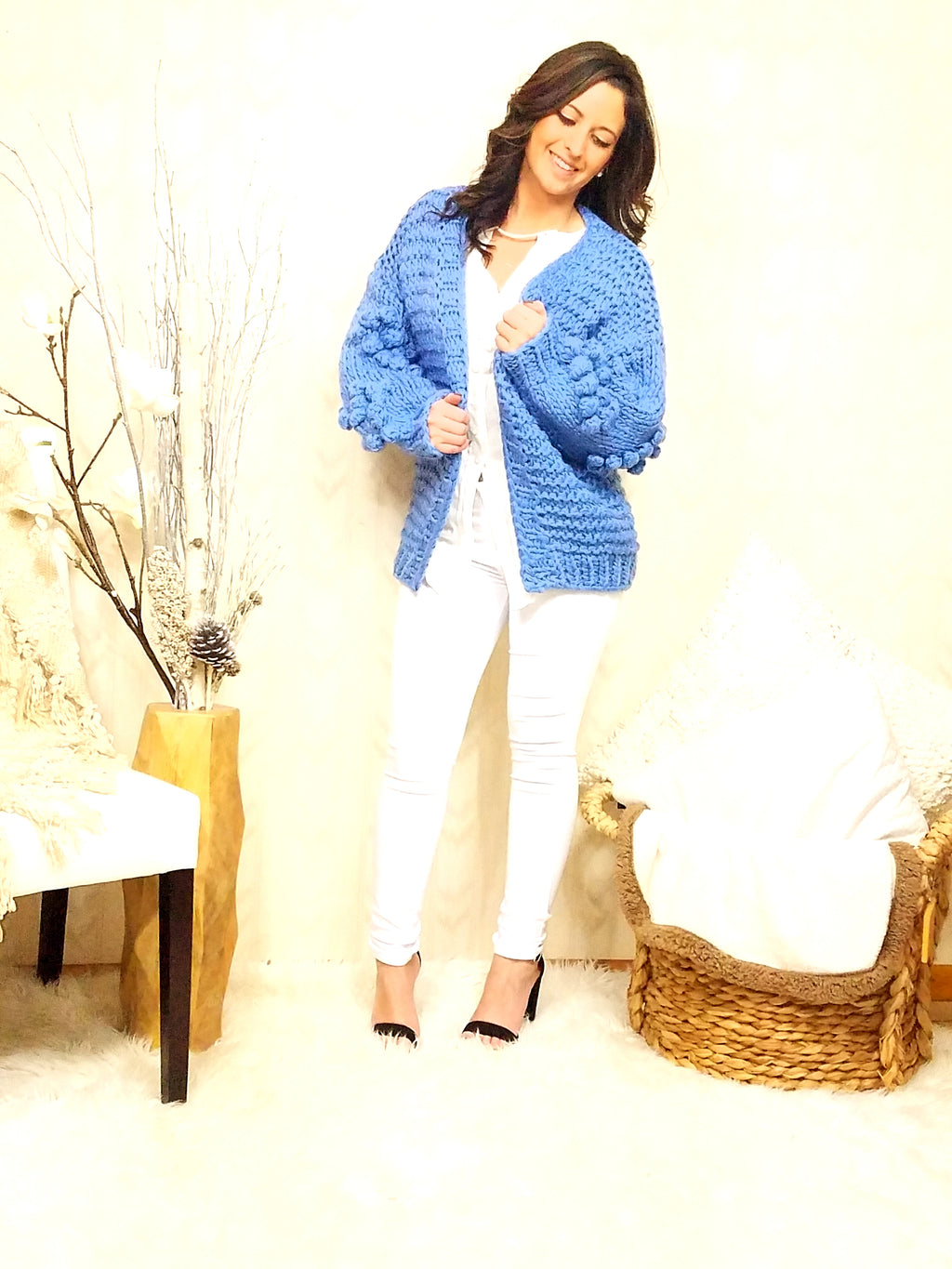 Zoey Blue Knit Cardigan