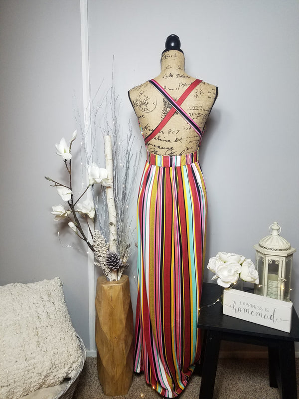 June Rainbow Maxi Dress