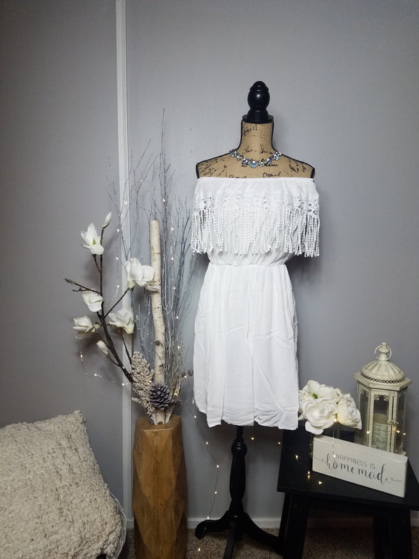Hilary White Boho Dress
