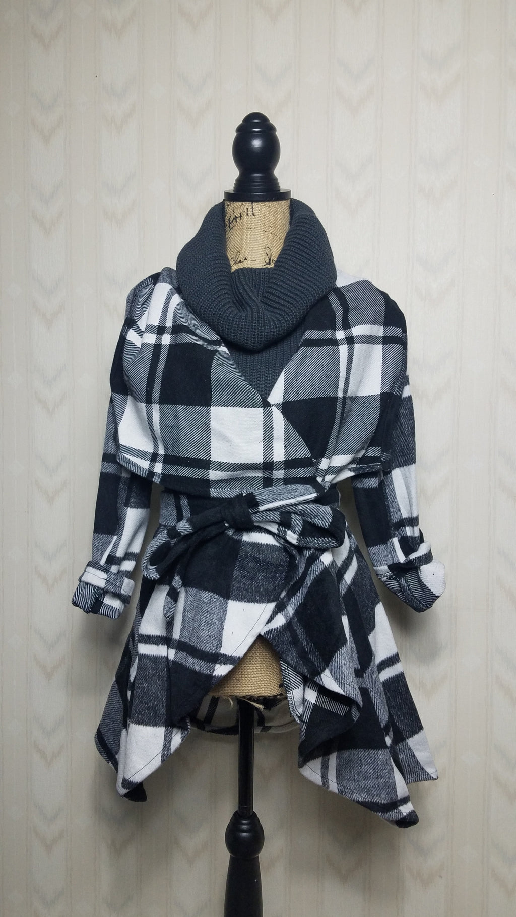 Riley Plaid Coat