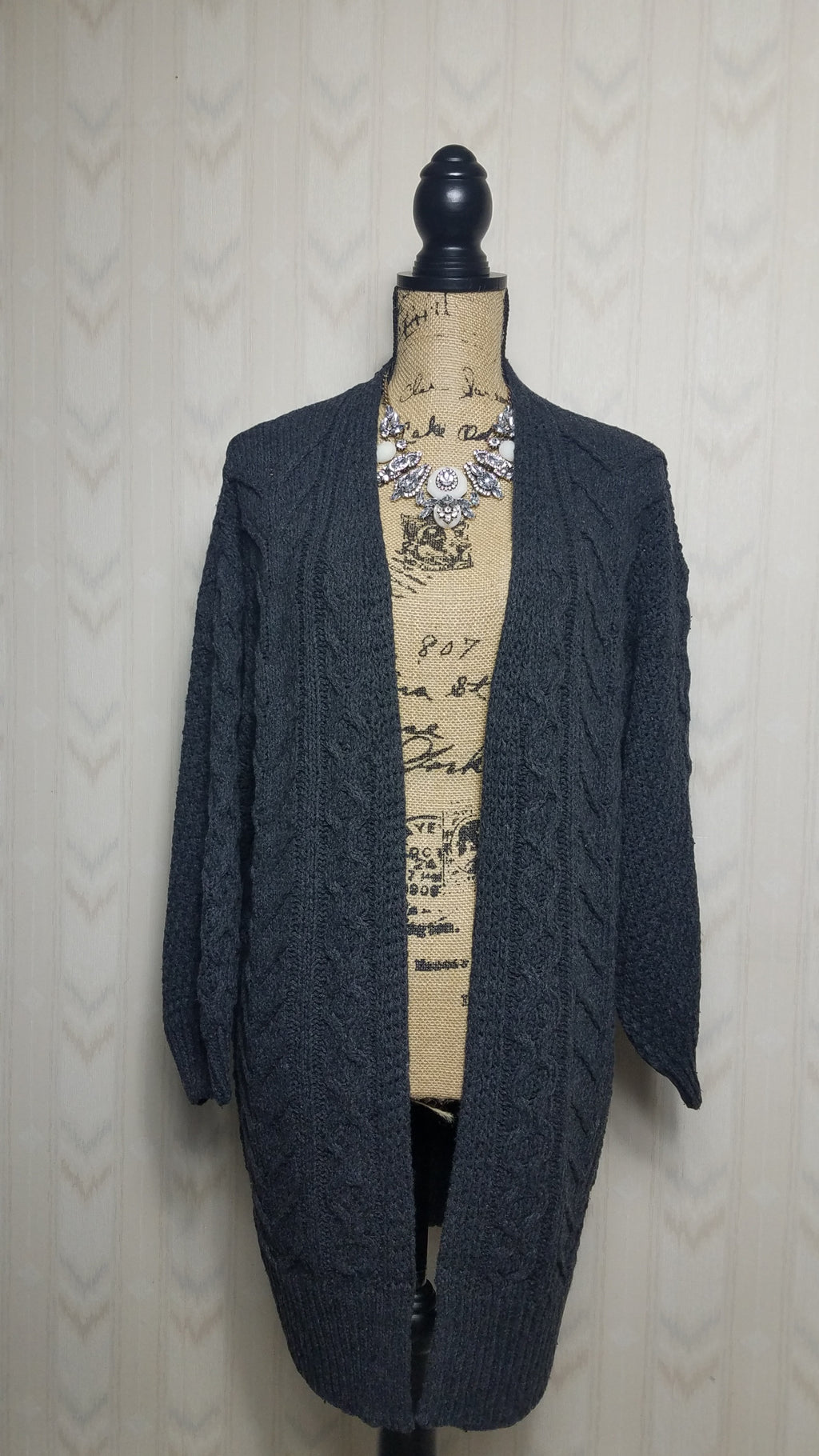 Shirley Charcoal Gray Cardigan
