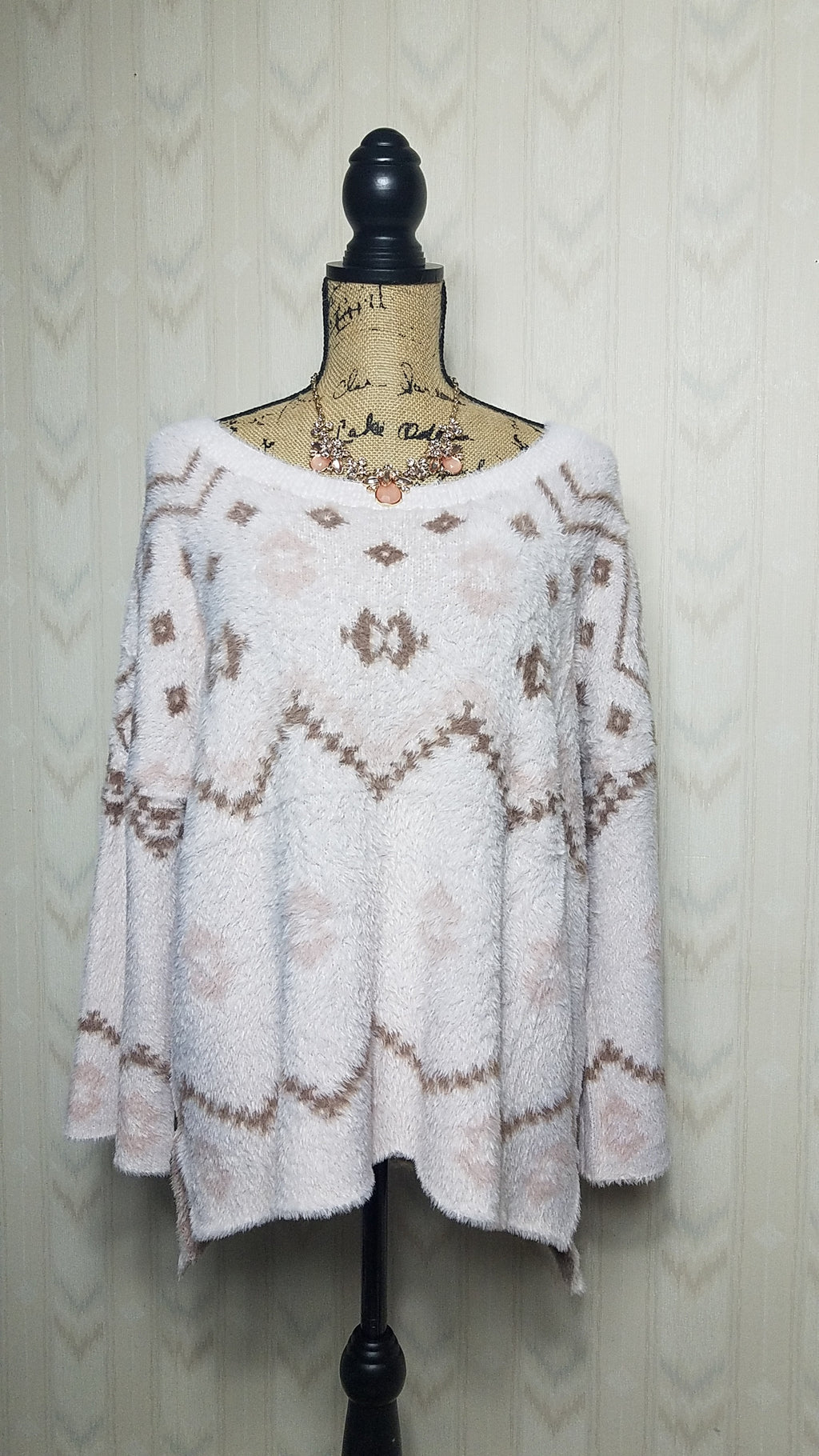 Angelica Aztec Print Pullover Sweater