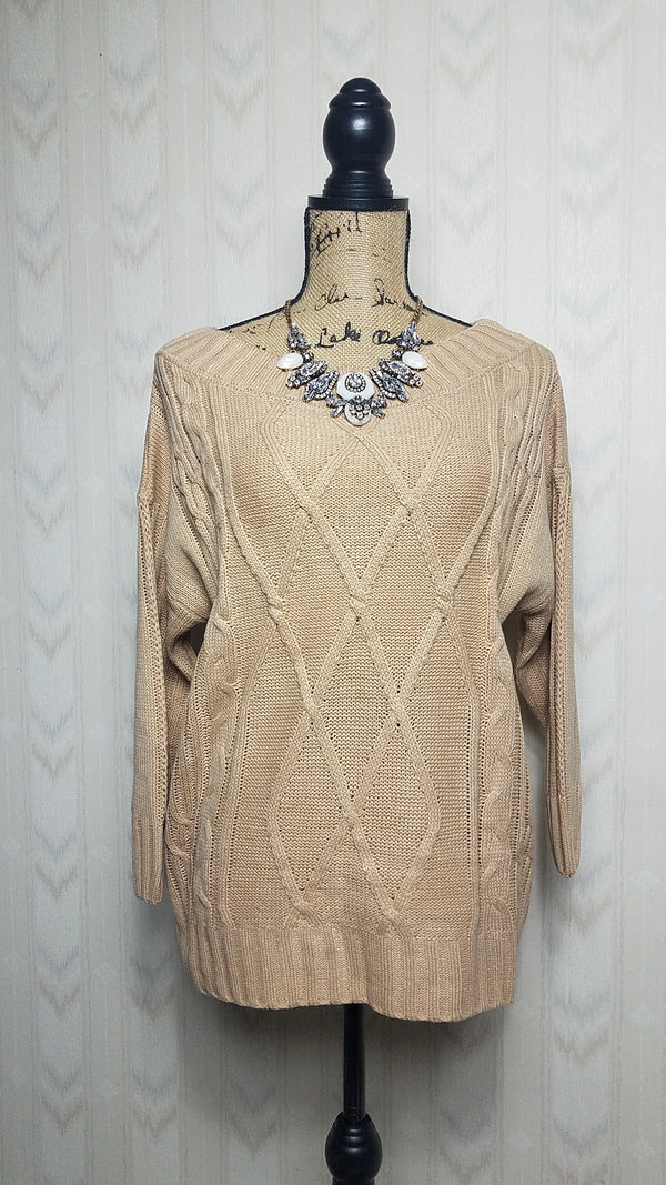 Jocelyn Beige Textured Sweater