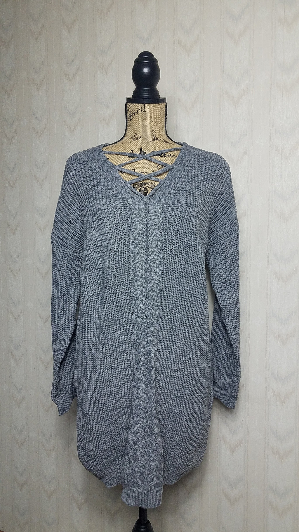 Hannah Heather Gray Sweater