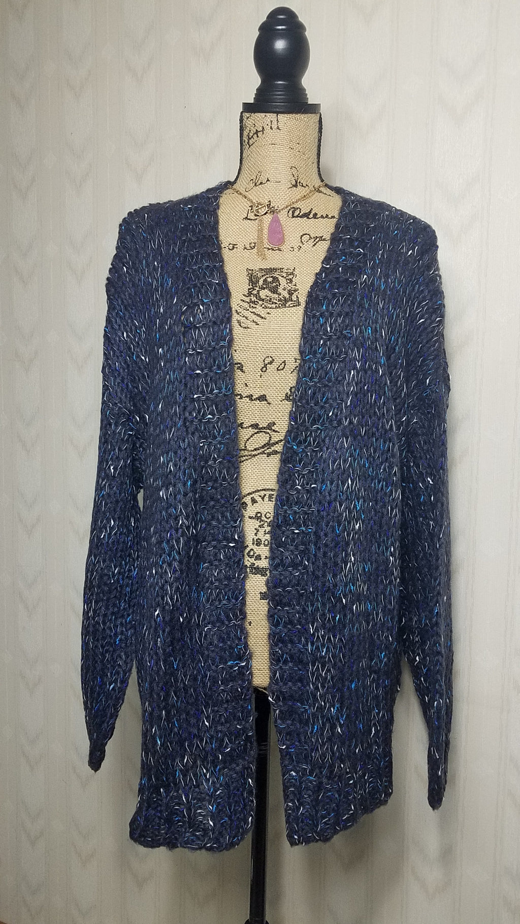 Kathy Speckled Navy Sweater Cardigan
