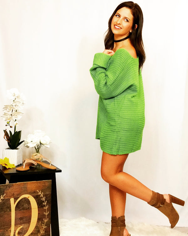 Neon Green Dream Sweater