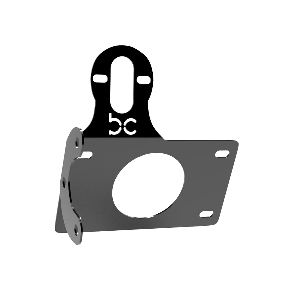 Multi-FIT Horizontal License plate bracket with Brake light