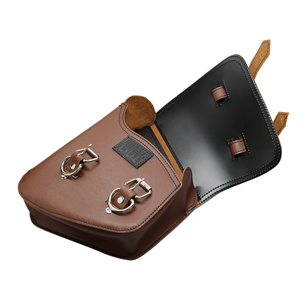 Custom Saddle Bag - Left Side SwingArm Rustic Brown