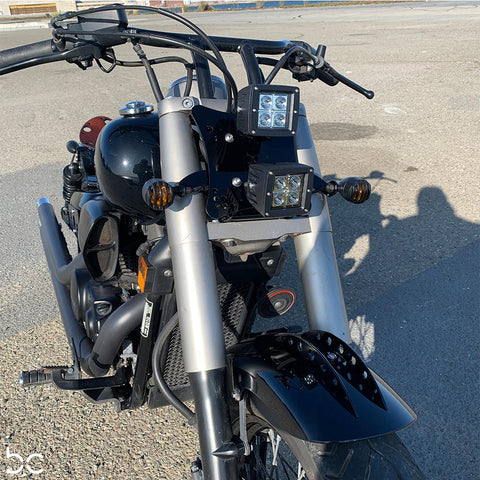 Honda Shadow VT750 (Shaft) Side Covers (Left &Right) Raw Steel