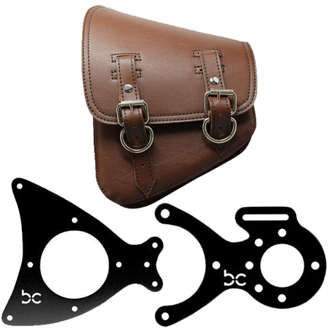 Rustic Brown Saddle Bag + MultiFIT Saddle Bag Bracket