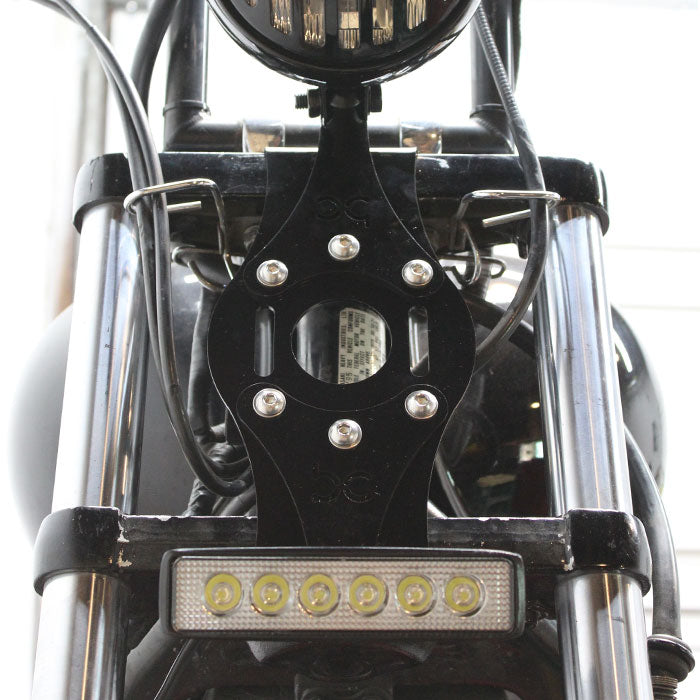 Finned Grill Clear Lens Round Headlight
