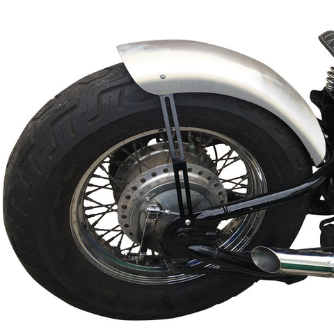 "Custom 7"" Smooth Steel Rear BobberCycle Fender With Lip"