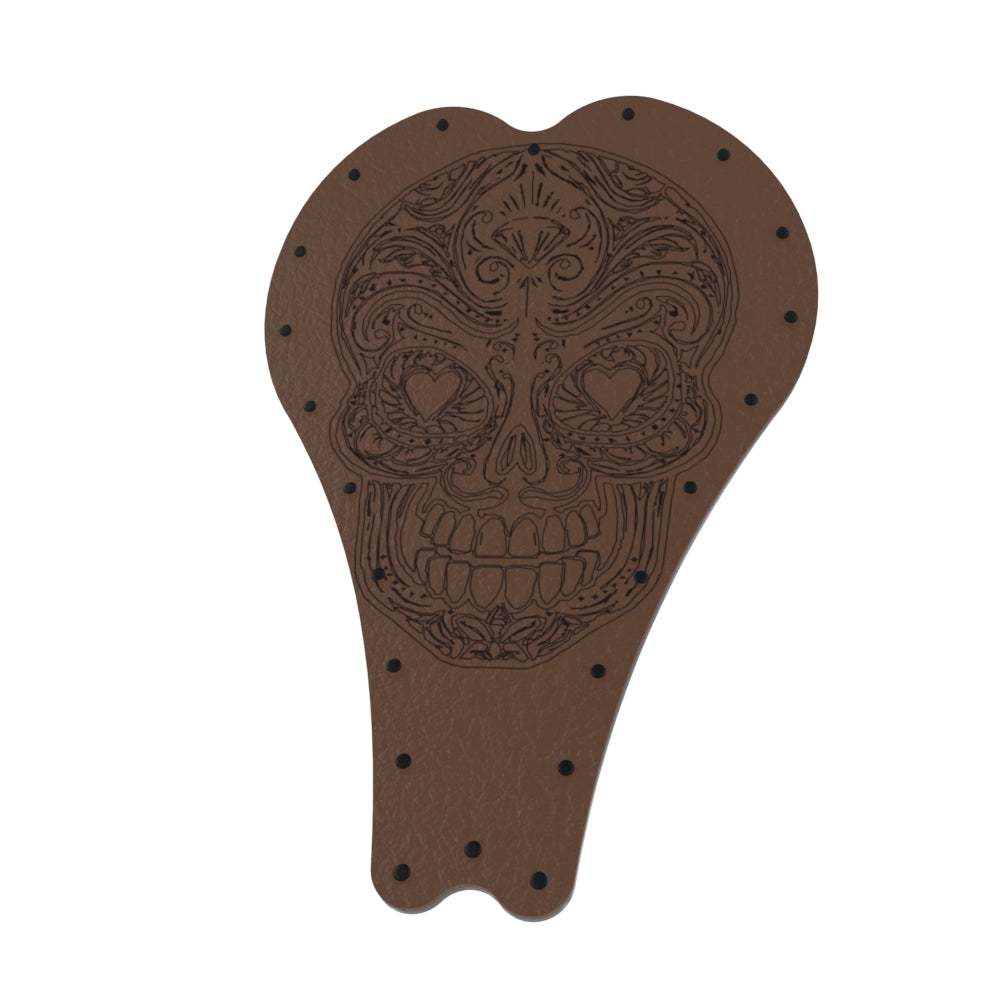 Art series Leather Sugar Skull Solo Seat