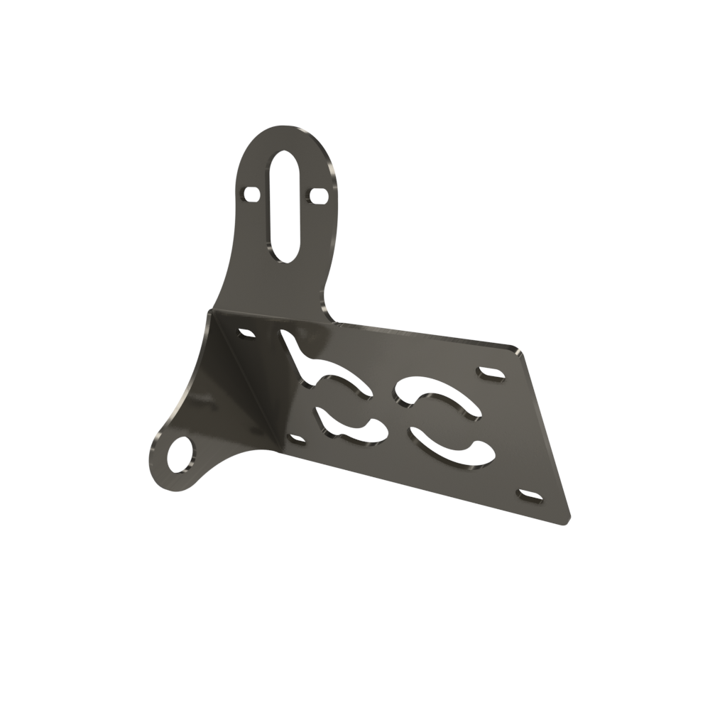 UNIVERSAL Horizontal License plate bracket (Raw Steel)