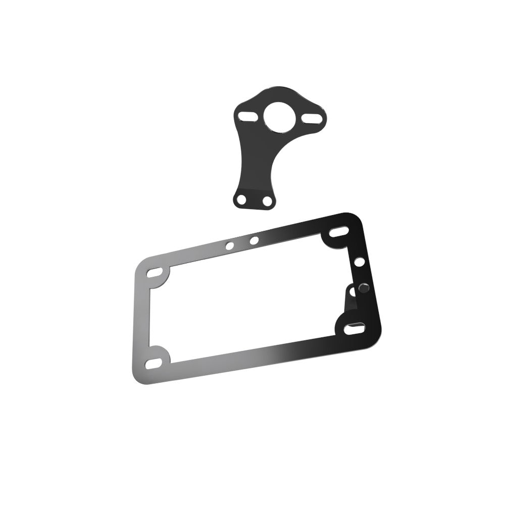 Universal Horizontal & Vertical License plate bracket with Brake light