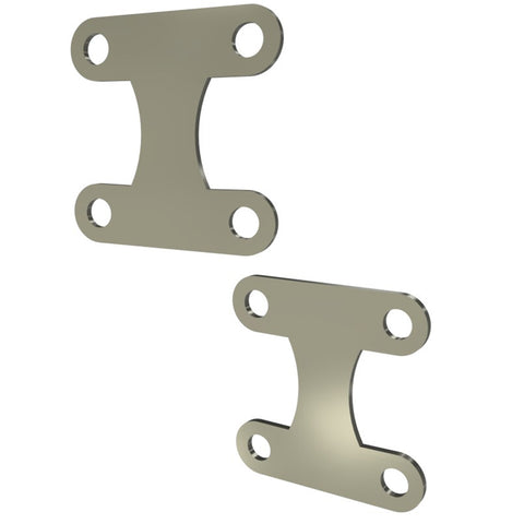 Honda Rebel CMX250 Front Fender Brackets (Raw Steel)