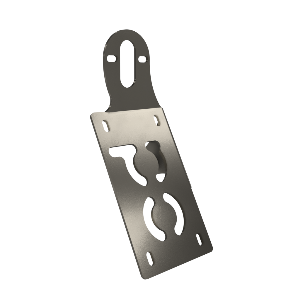 UNIVERSAL Vertical License plate bracket (Raw Steel)