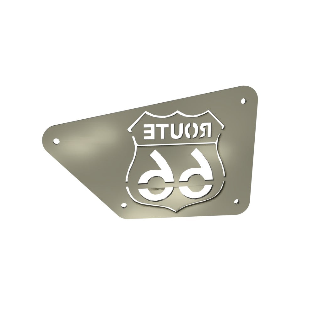 Honda Rebel CMX250 Left Side Cover Route 66 (Raw Steel)
