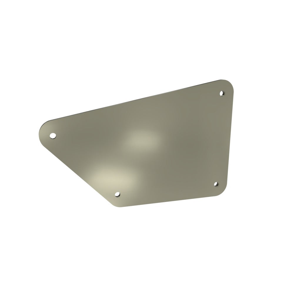 Honda Rebel CMX250 Left Side Cover Blank (Raw Steel)