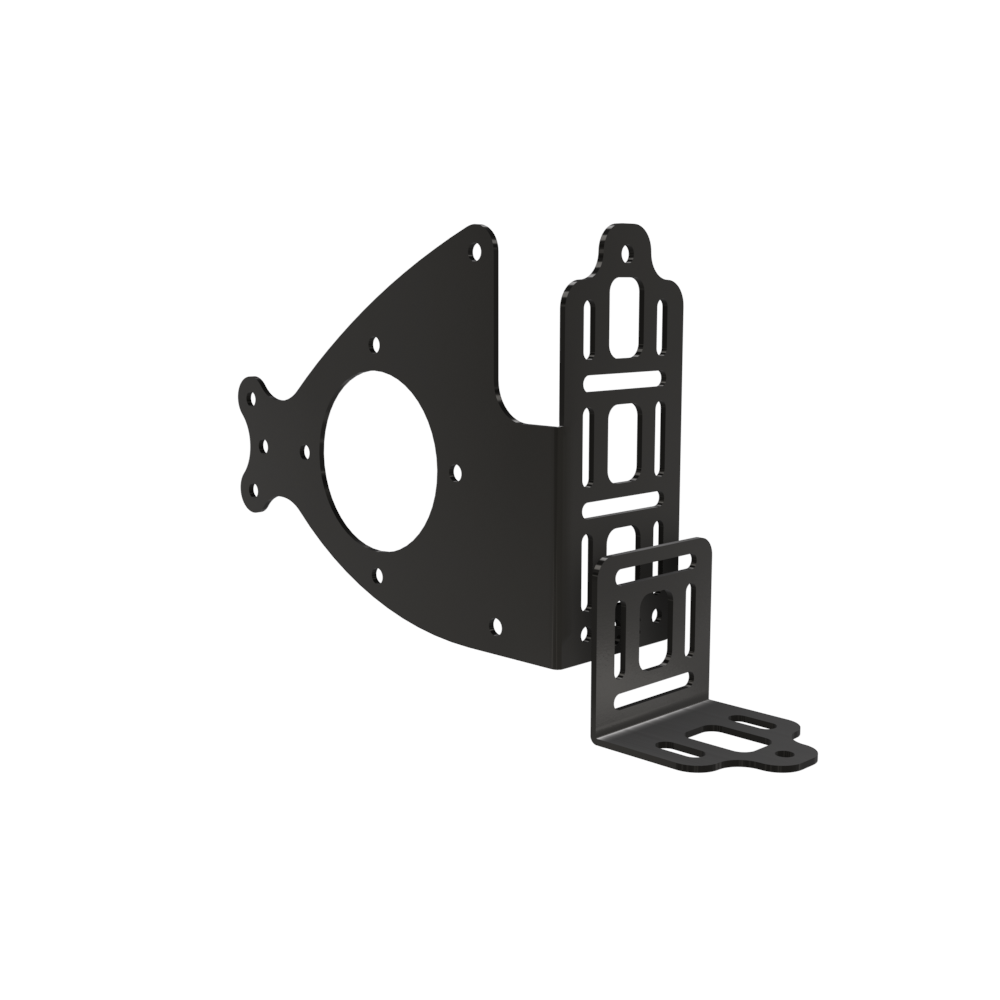 Multi-FIT Saddle bag bracket W/Fuel Bottle Mount (Powder Coated)
